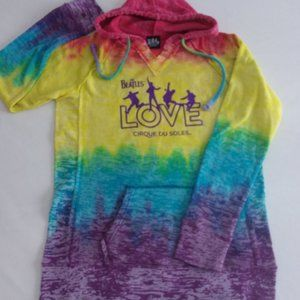 The Beatles Love Cirque Du Soleil Tie Dye Hoodie